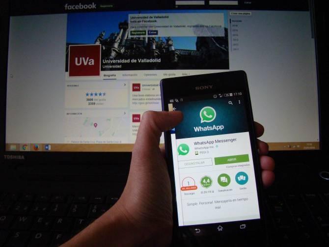 Analizan el uso de Facebook y WhatsApp con fines académicos. (Foto: DICYT)