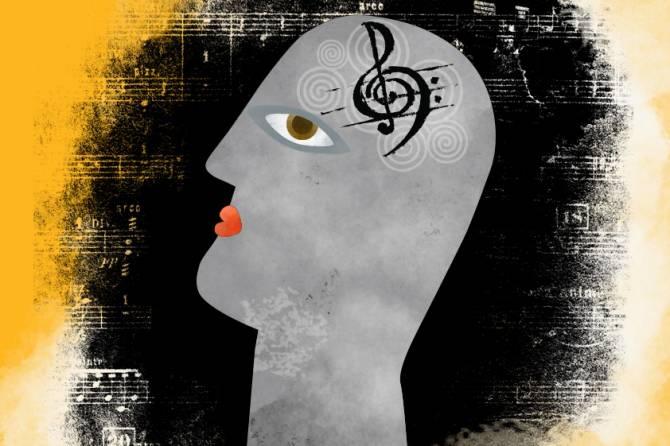 Uno de los principales debates en torno a la música es hasta qué punto dispone de mecanismos dedicados en el cerebro y hasta qué punto depende de mecanismos que principalmente sirven para otras funciones. (Ilustración: Christine Daniloff/MIT)